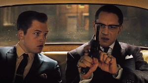 Taron Egerton as Teddy Smith and Tom Hardy as Ronnie Kray.